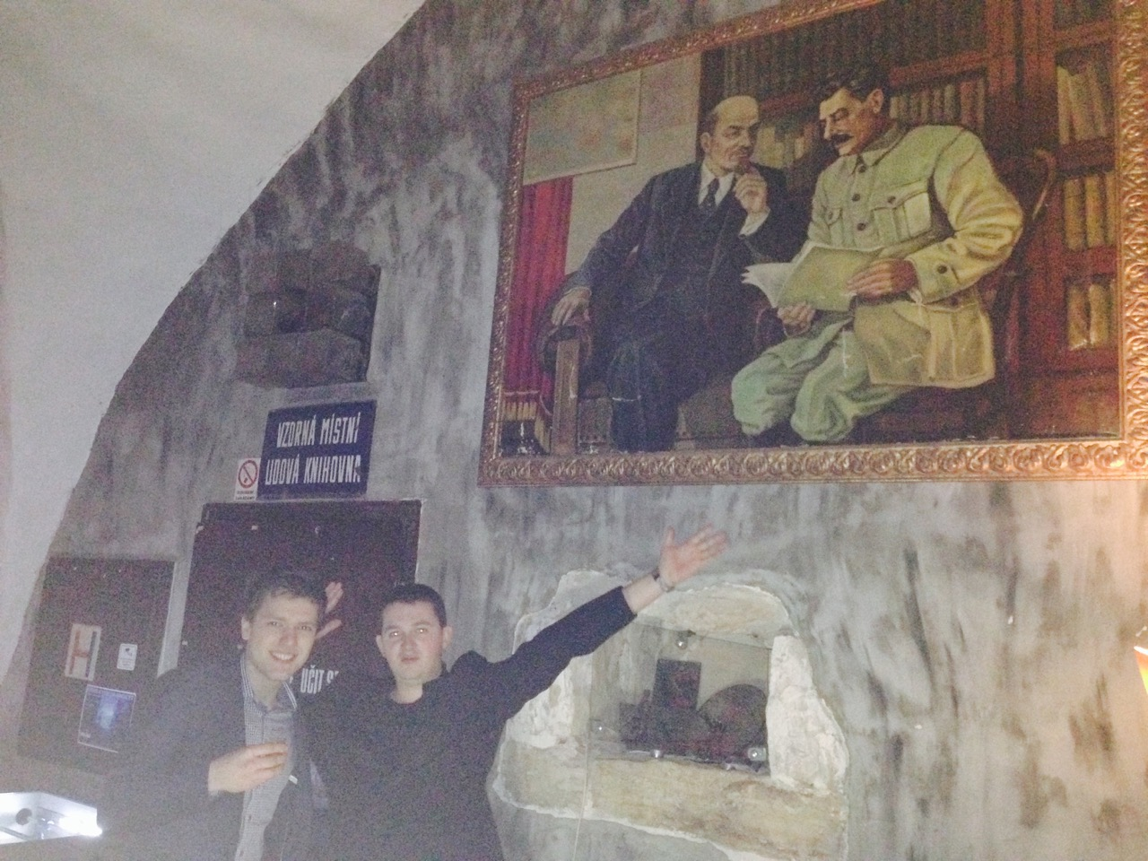 Lenin and Stalin in Prague