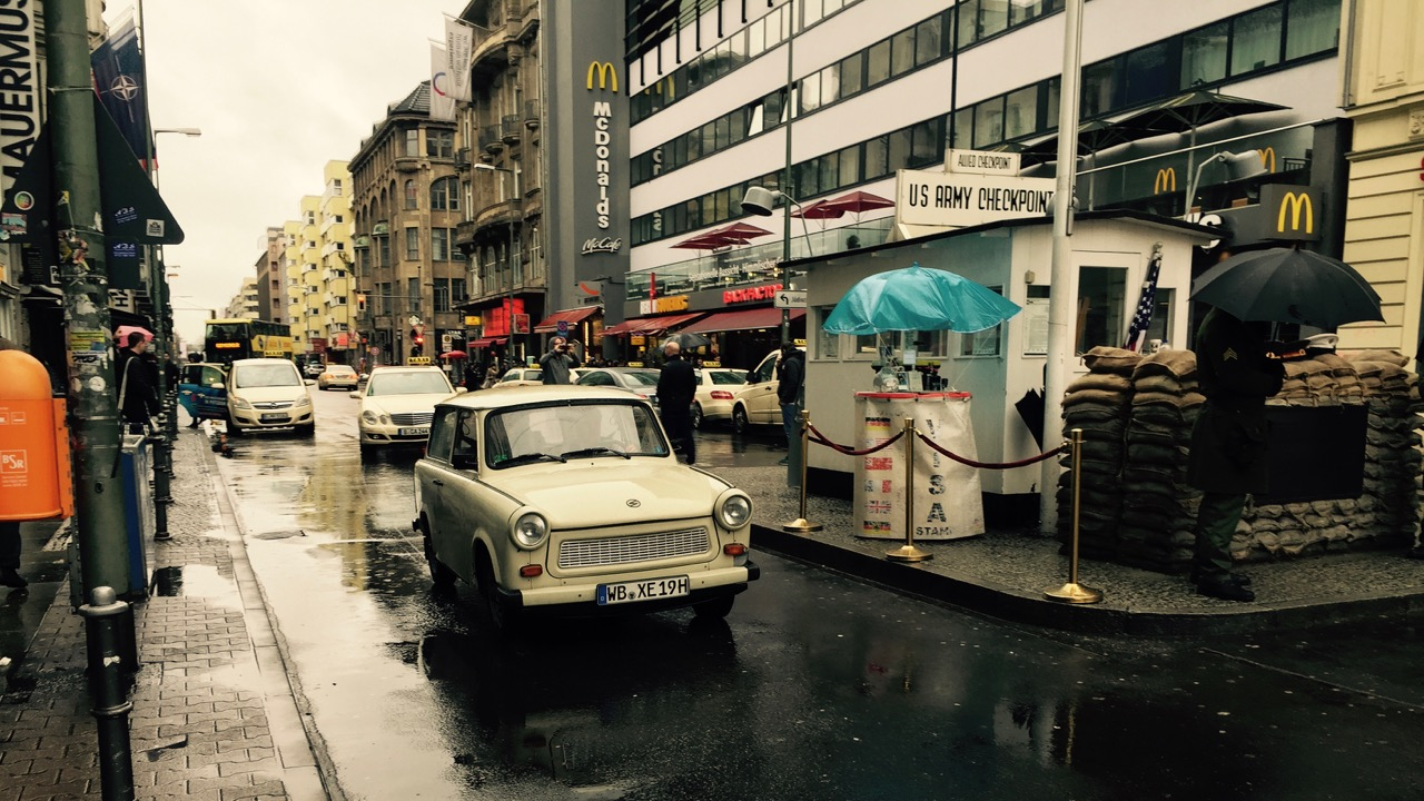 Trabant at Checkpoint Charlie