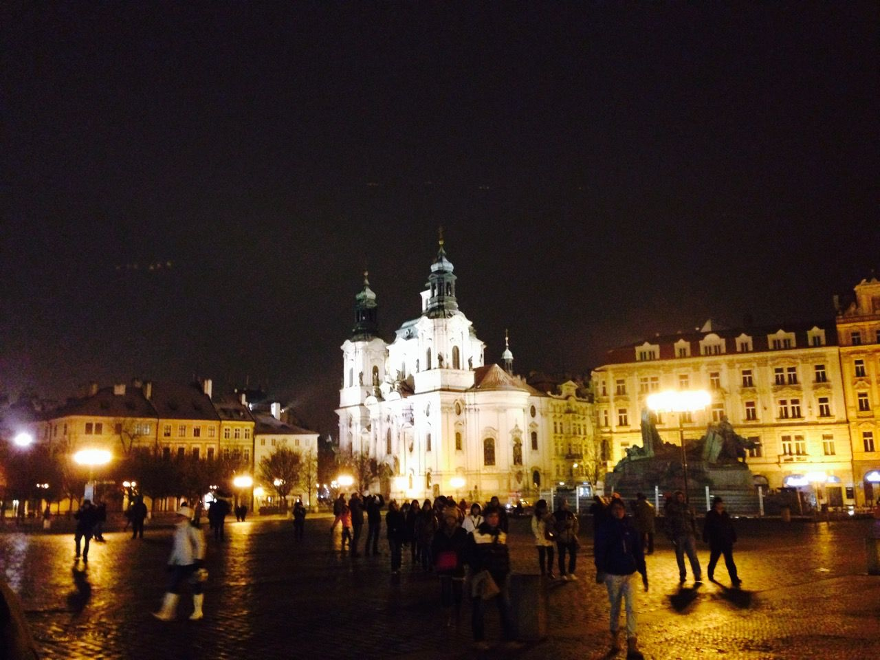 In Prague's Old Town Square