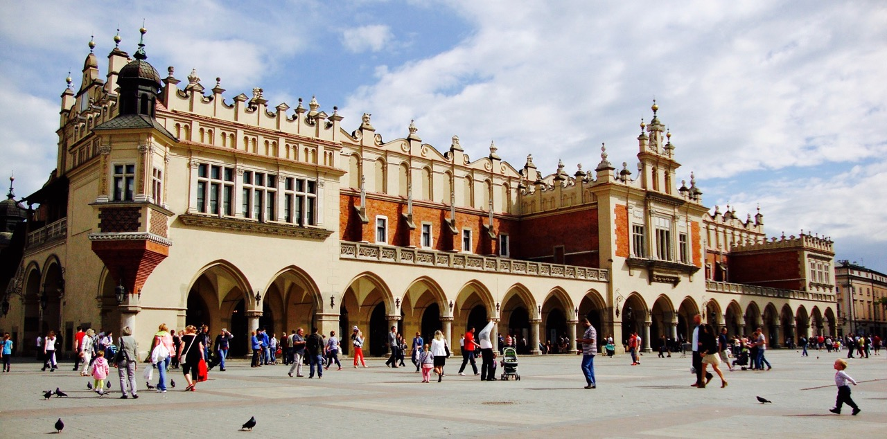 The beautiful, imposing Krakow Cloth Hall