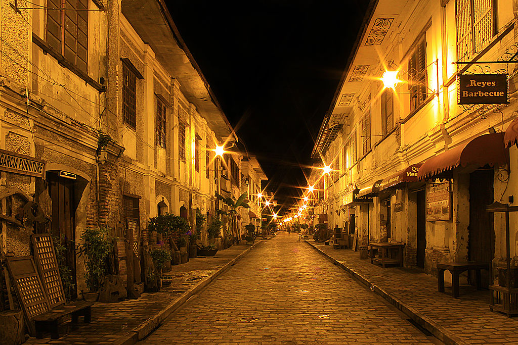Calle Crisologo - Vigan at night