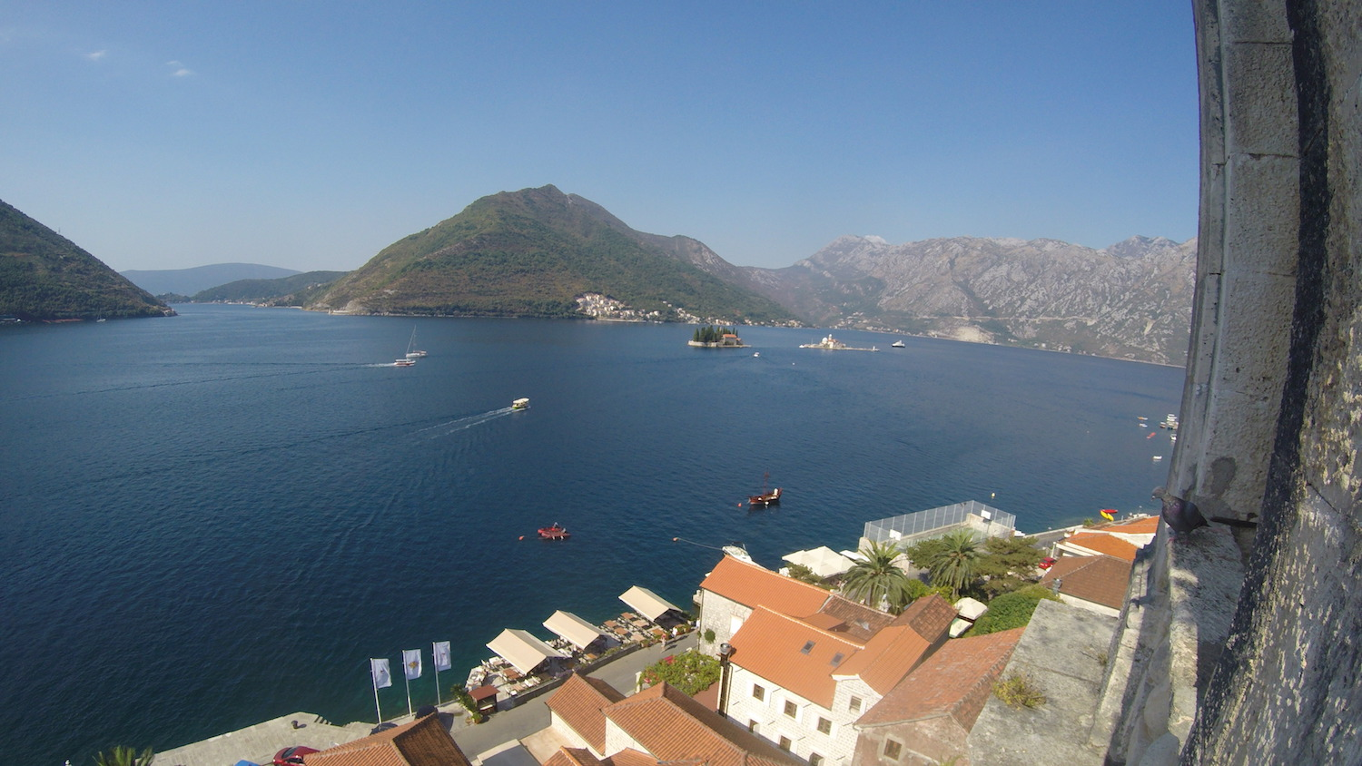 Perast view from bell tower