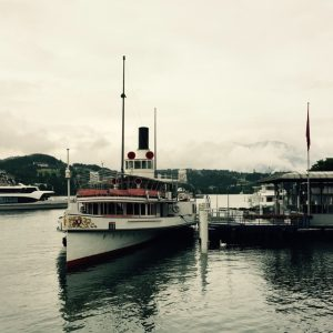 Stop off for a trip across Lake Lucerne in Switzerland