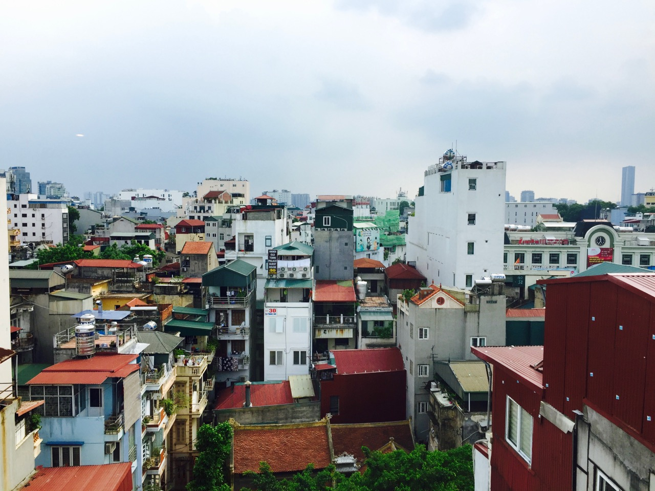 Hanoi from the hotel window