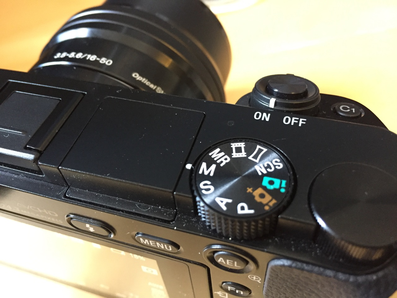 Find the 'M' option on the dial for full Manual mode