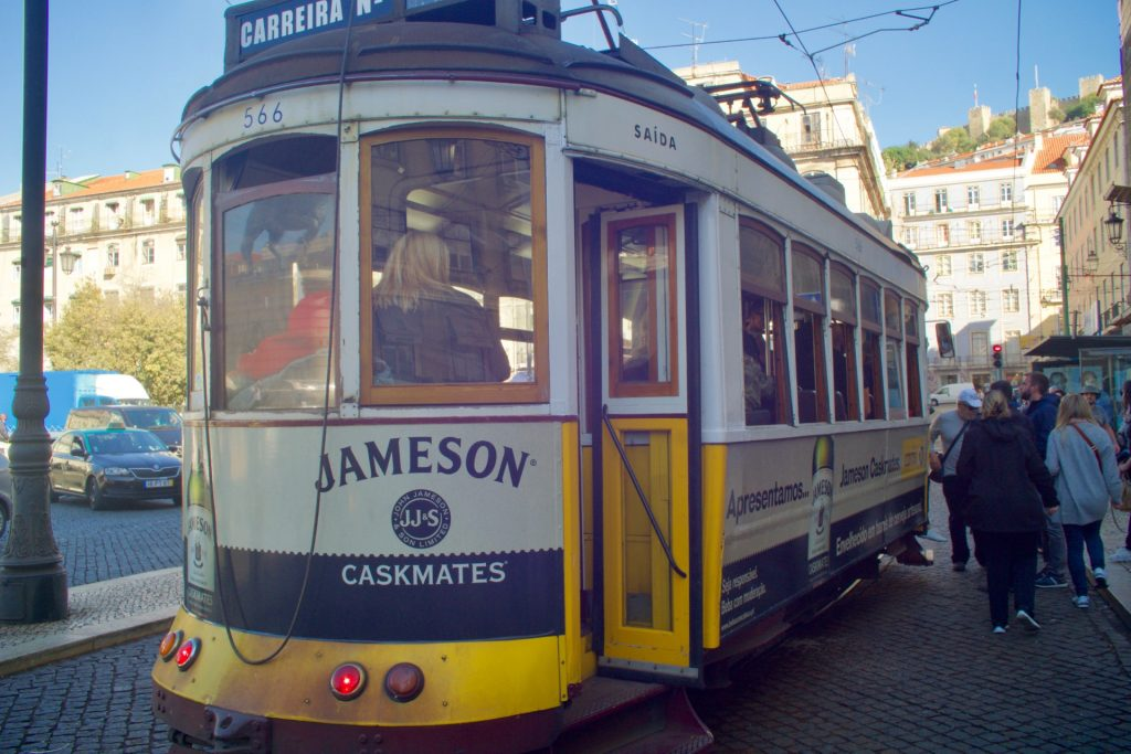 One of Lisbon's vintage trams